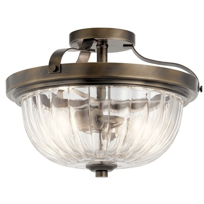 Chesterlyn 14 13 In Vintage Tuscan Incandescent Semi Flush Mount Light