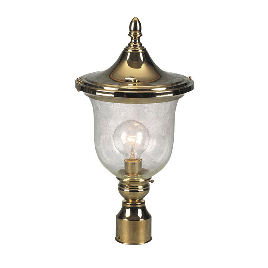 Portfolio Sturbridge 19.31-in H Polished Brass Post Light