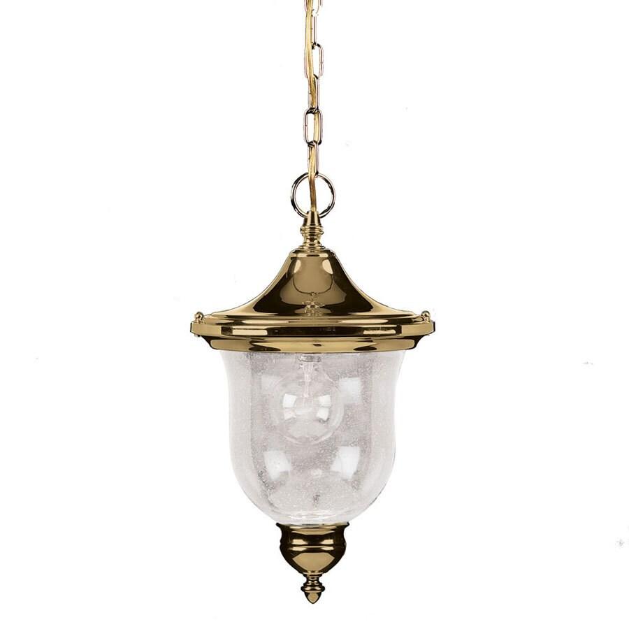 Portfolio Sturbridge 19.31-in Polished Brass Outdoor Pendant Light