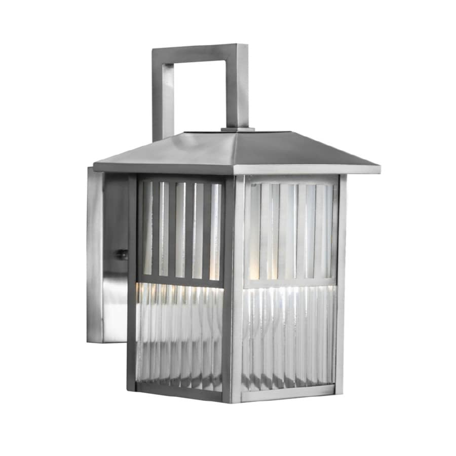 Shop allen roth lancetti 10 34 in brushed nickel outdoor wall allen roth lancetti 10 34 in brushed nickel outdoor wall light arubaitofo Image collections
