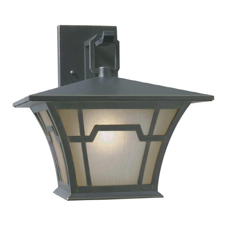 Portfolio 12.87-in H Saddle Bronze Outdoor Wall Light