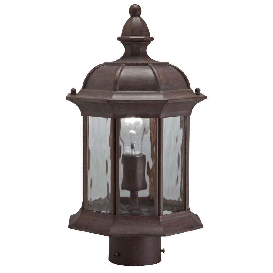 Portfolio 15.75-in H Olde Brick Post Light