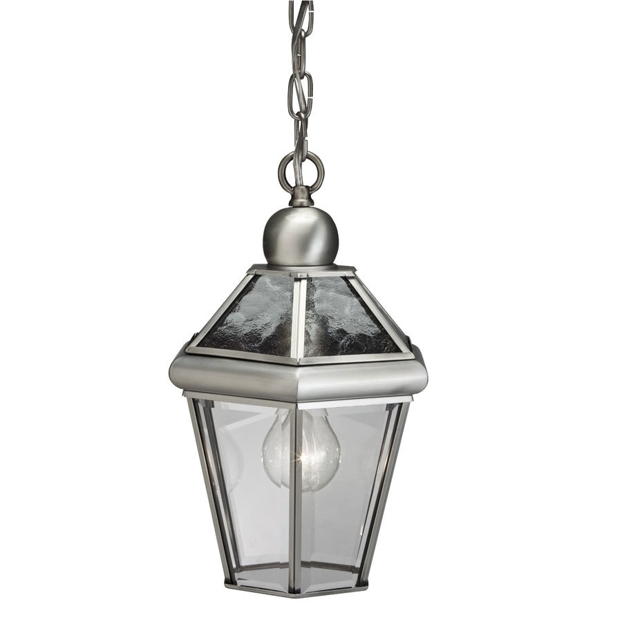 Shop Portfolio Antique Pewter Outdoor Pendant Light At