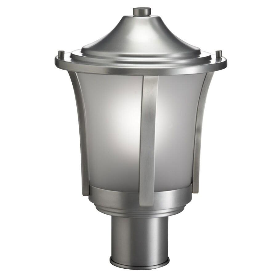 Portfolio 14.12-in H Brushed Aluminum Post Light