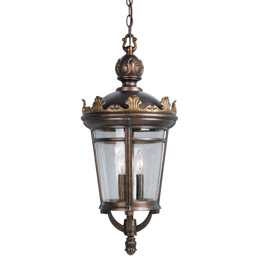 Portfolio 26.5-in Legacy Bronze with Gold Accents Outdoor Pendant Light