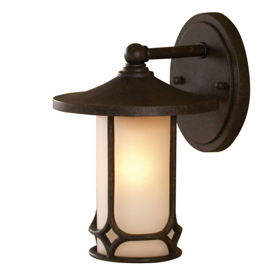 allen + roth 9.5-in H Aged Bronze Outdoor Wall Light