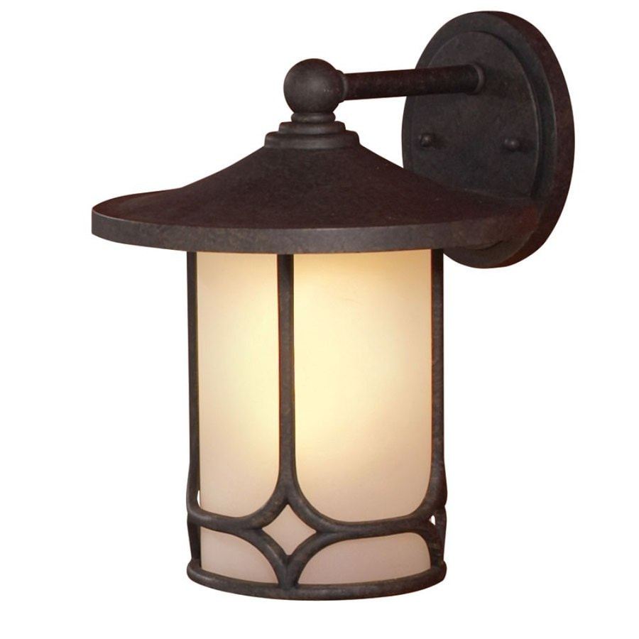 allen + roth 12.75-in H Aged Bronze Outdoor Wall Light