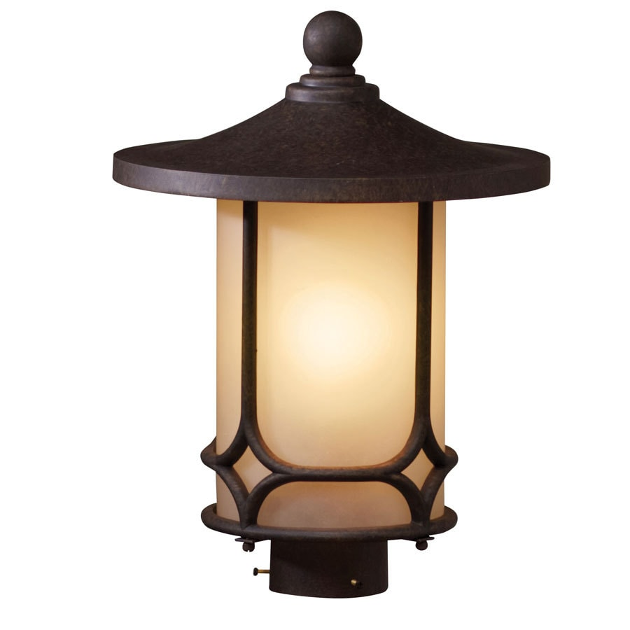 allen + roth 16-in H Aged Bronze Post Light