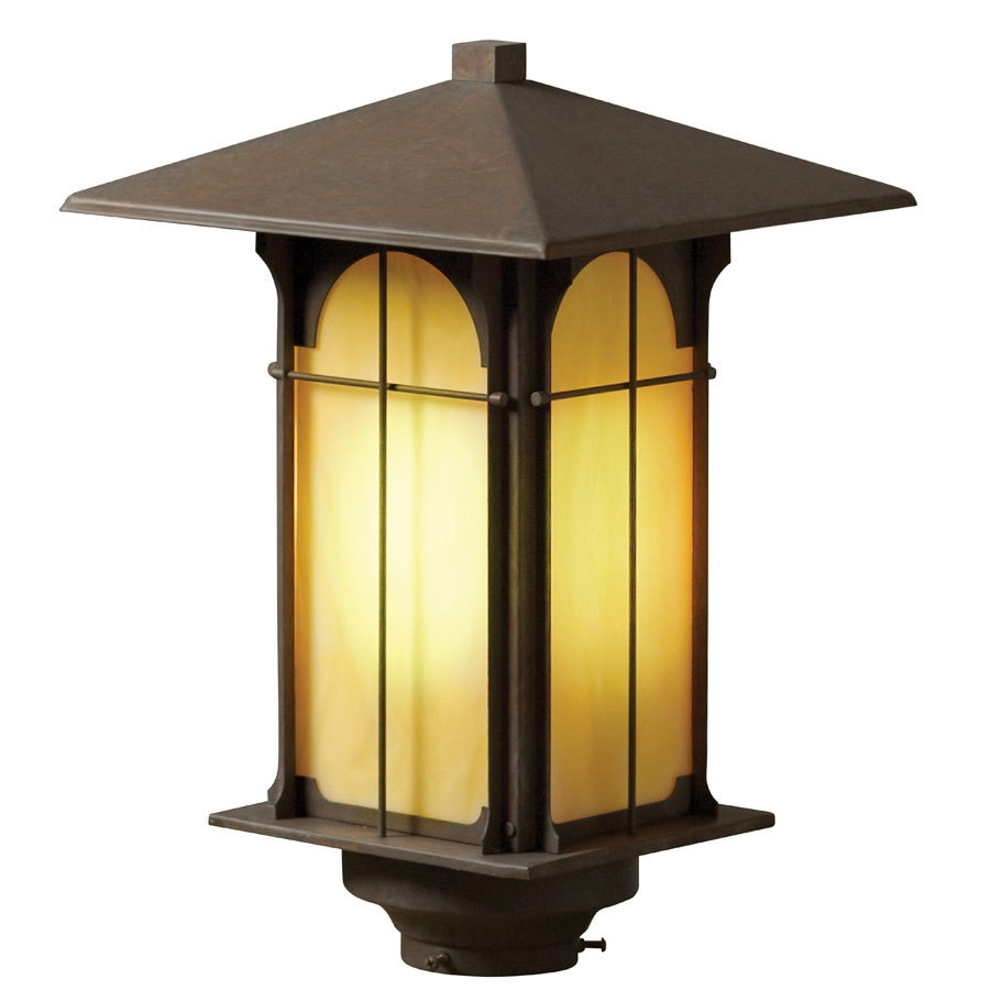 allen + roth Lindberg 16.5-in H Olde Brick Post Light
