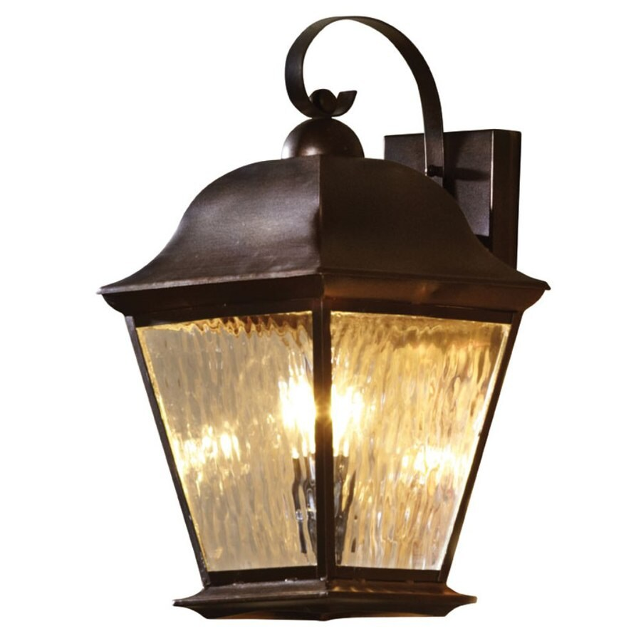 allen + roth 18.5-in H Olde Auburn Outdoor Wall Light