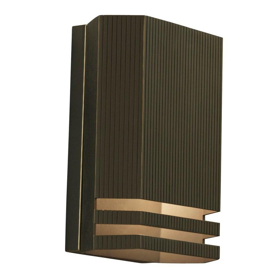 Shop Portfolio 10-in H Olde Bronze Dark Sky Outdoor Wall Light at ...