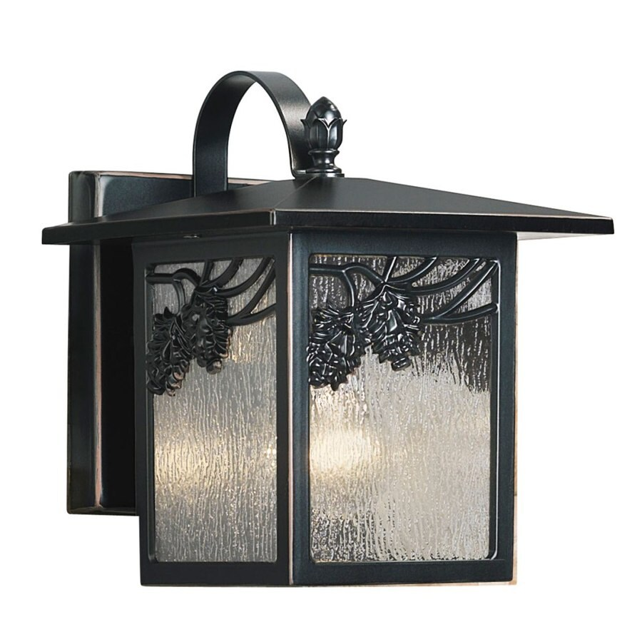 Portfolio Ortman 9-in H Black Outdoor Wall Light