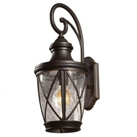 Lowes Outdoor Lighting Fixtures Shop outdoor wall lighting at lowes allen roth castine h rubbed bronze medium base e 26 outdoor wall workwithnaturefo