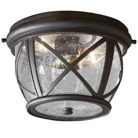 allen and roth outdoor lighting gazebo allen roth castine 109in rubbed bronze outdoor flush mount light allen lighting at lowescom