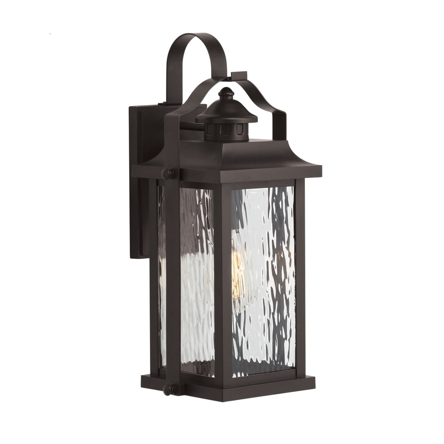 Shop Kichler Linford 17.24-in H Olde Bronze Medium Base (E-26) Outdoor Wall Light at Lowes.com