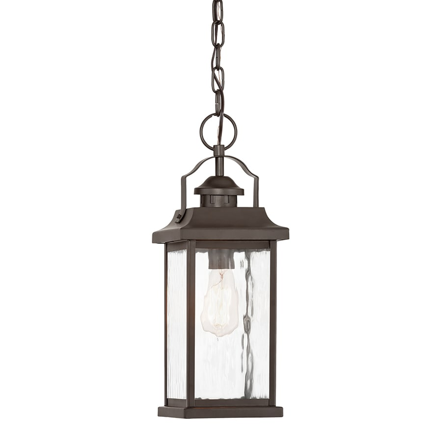 Porch Light Pendant: Kichler Linford Olde Bronze Single Traditional Clear Glass