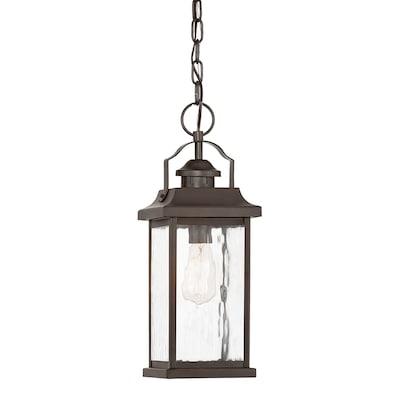 Linford Olde Bronze Single Traditional Clear Gl Lantern Pendant Light