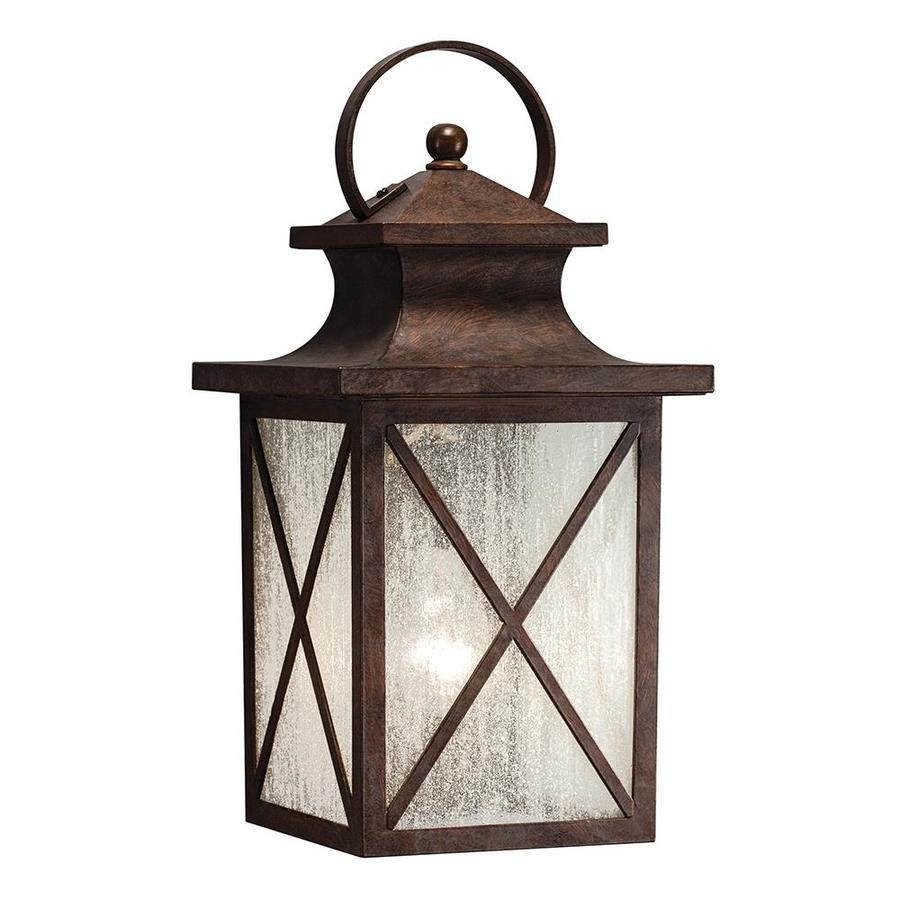 Exterior Wall Sconces Lowes : Shop Kichler Lighting Haven 15.98-in H Olde Brick Outdoor ...