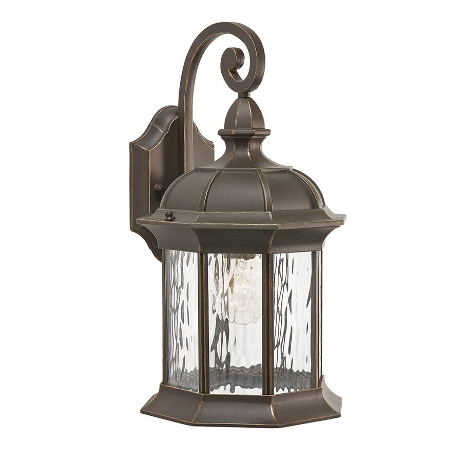 Kichler Brunswick 16.06-in H Olde Bronze Medium Base (E-26) Outdoor Wall Light
