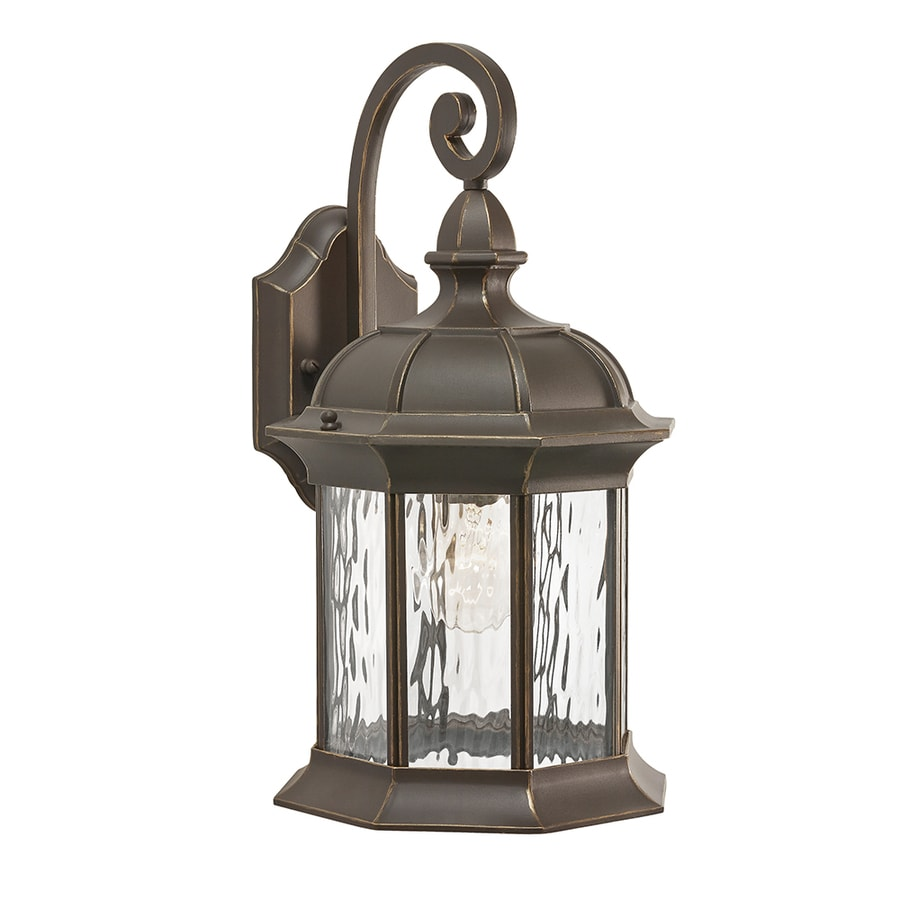Shop Kichler Brunswick H Olde Bronze Outdoor Wall Light At