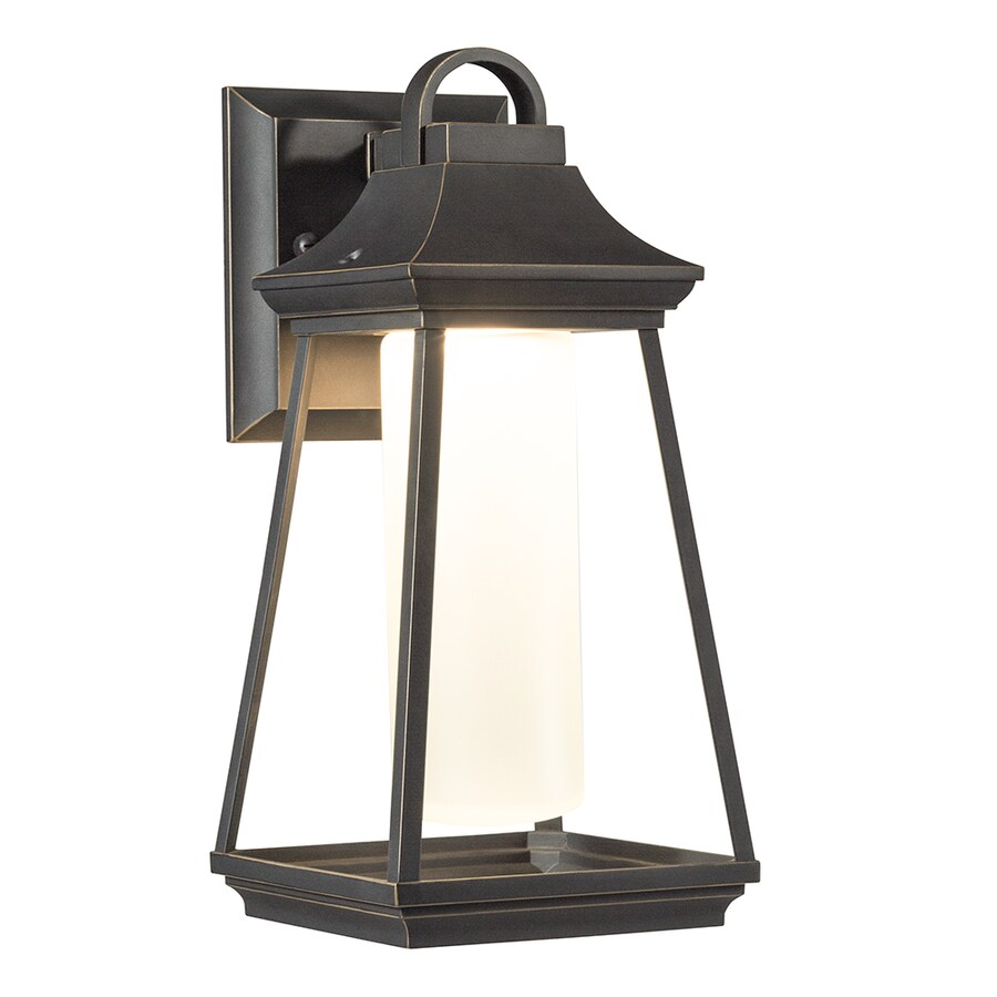 Kichler Lighting Hartford 11.77 In H LED Rubbed Bronze Outdoor Wall Light