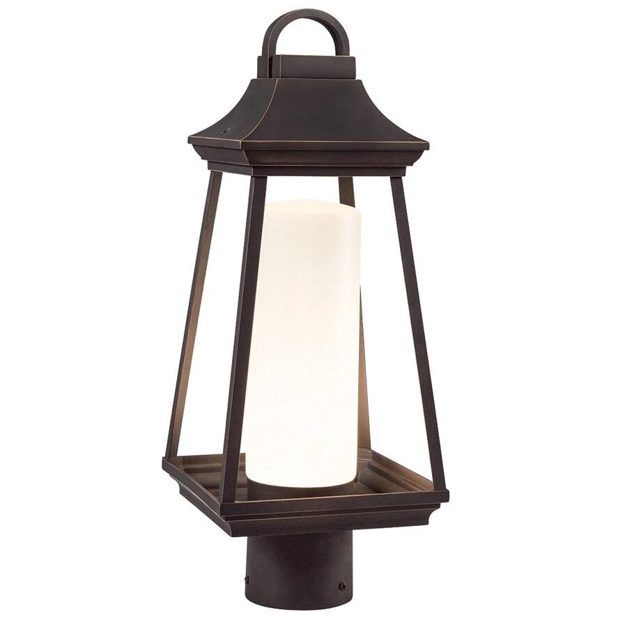 Kichler Lighting Hartford 17.8-in H Rubbed Bronze Integrated Post Light