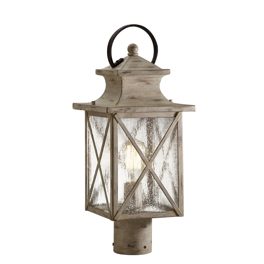 Kichler Haven 19.21-in H Distressed Antique White and Rust Post Light