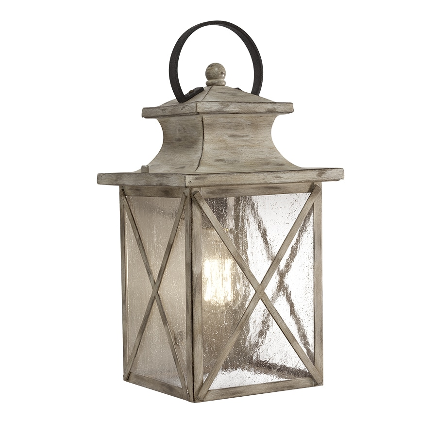 Shop Kichler Haven 15.98-in H Distressed Antique White and Rust Outdoor Wall Light at Lowes.com