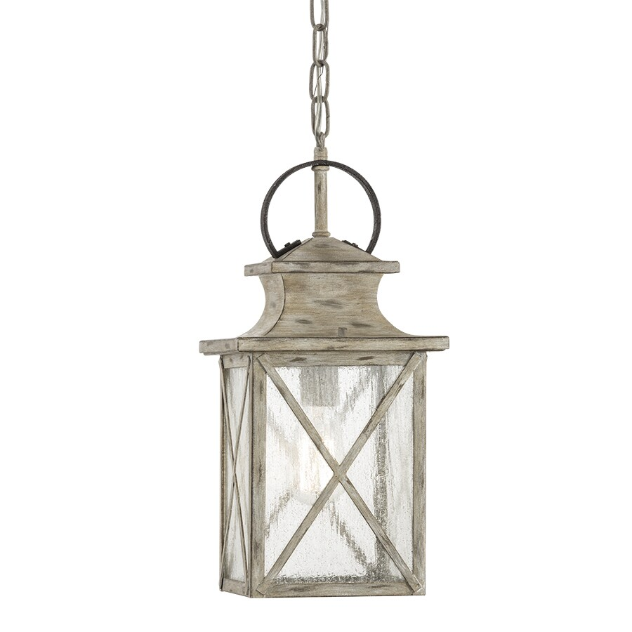 Kichler Haven 17.17-in Distressed Antique White and Rust Outdoor Pendant Light