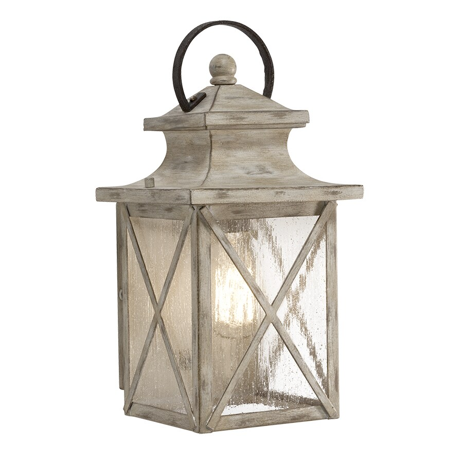 Kichler Haven 12.99-in H Distressed Antique White and Rust Outdoor Wall Light