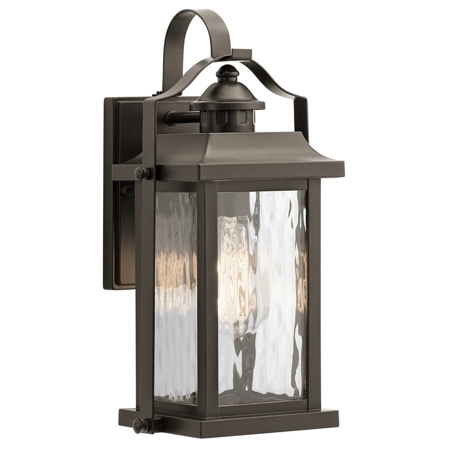 Shop kichler linford h olde bronze medium base e for Outside home lighting