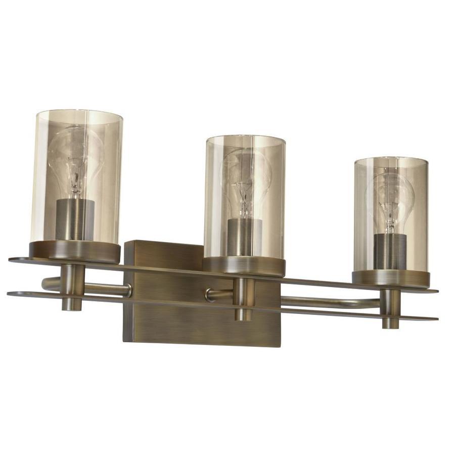 Allen + Roth Lynbridge 3-Light 23.03-in Soft Gold Cylinder
