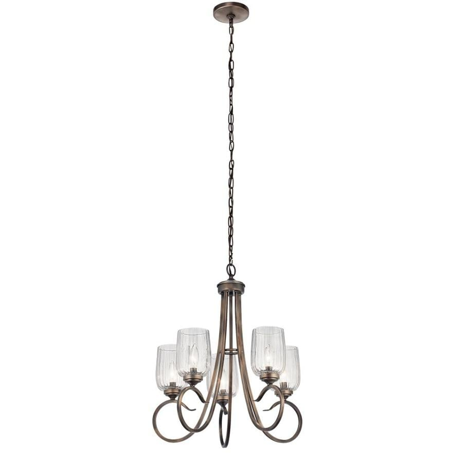 Kichler Chesterlyn 5 Light Vintage Tuscan Traditional Chandelier In The Chandeliers Department At Lowes Com