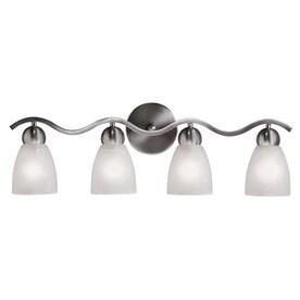 Bathroom Lighting Fixtures Brushed Nickel: Portfolio Paces Brushed Nickel Bell Vanity Light,Lighting