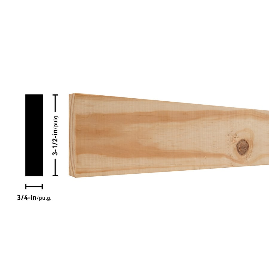 (Common: 1-in x 4-in x 12-ft; Actual: 0.75-in x 3.5-in x 0-ft) Southern Yellow Pine Board
