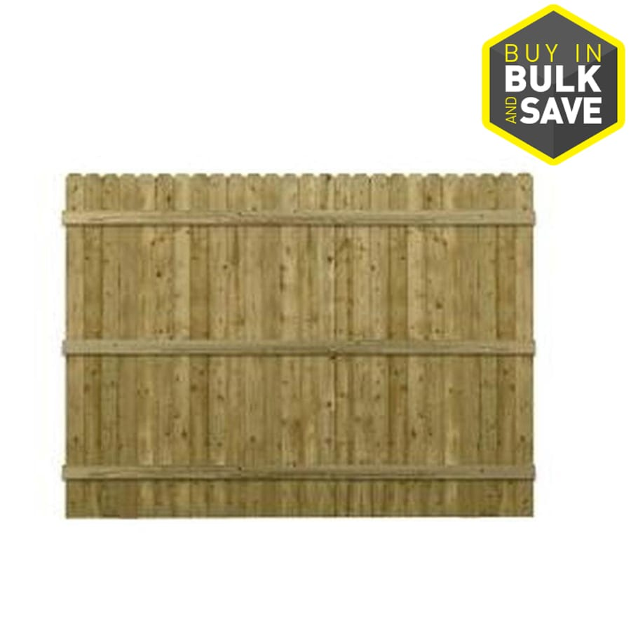 (Common: 6-ft x 8-ft; Actual: 6-ft x 8-ft) Green Pressure Treated Southern Yellow Pine Privacy Fence Panel