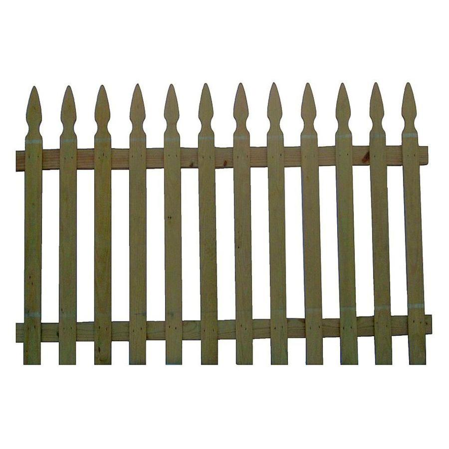 Severe Weather (Common: 3.5-ft x 8-ft; Actual: 3.5-ft x 8-ft) Green Pressure Treated Southern Yellow Pine Fence Panel