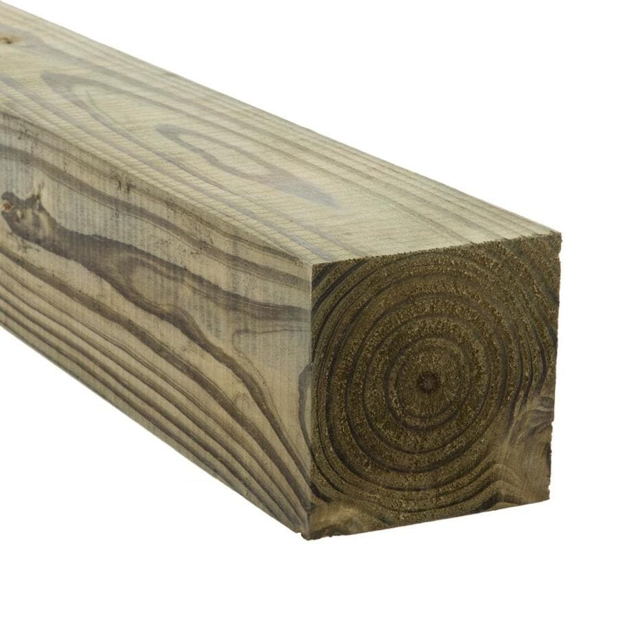 Severe Weather (Common: 4-in x 4-in x 7-ft; Actual: 3.5-in x 3.5-in x 7-ft) Pressure Treated Lumber