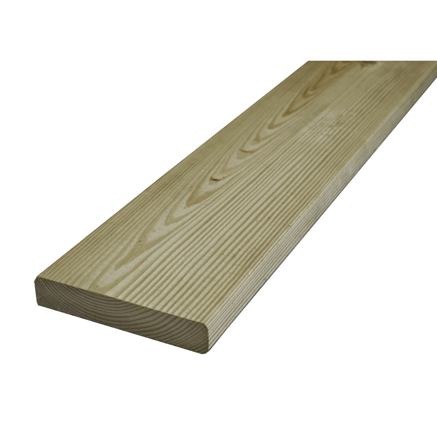 Severe Weather Max (Common: 5/4-in x 6-in x 10-ft; Actual: 1-in x 5.5-in x 10-ft) Radius Edge Pressure Treated Southern Yellow Pine Deck Board