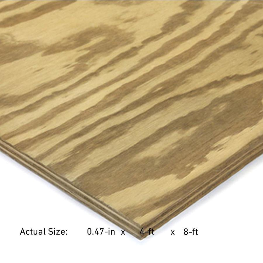 Severe Weather 1/2-in Common Southern Yellow Pine Plywood Sheathing, Application as 4 x 8