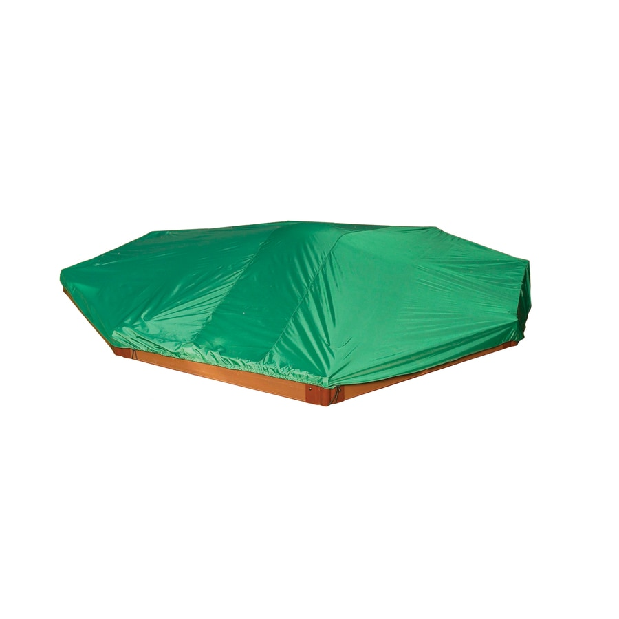 Shop Frame It All 10-ft x 10-ft Green Vinyl Sandbox Cover at Lowes.com