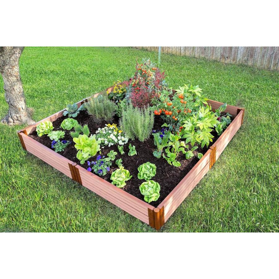 Frame It All 96-in L x 96-in W x 12-in H Resin Raised Garden Bed