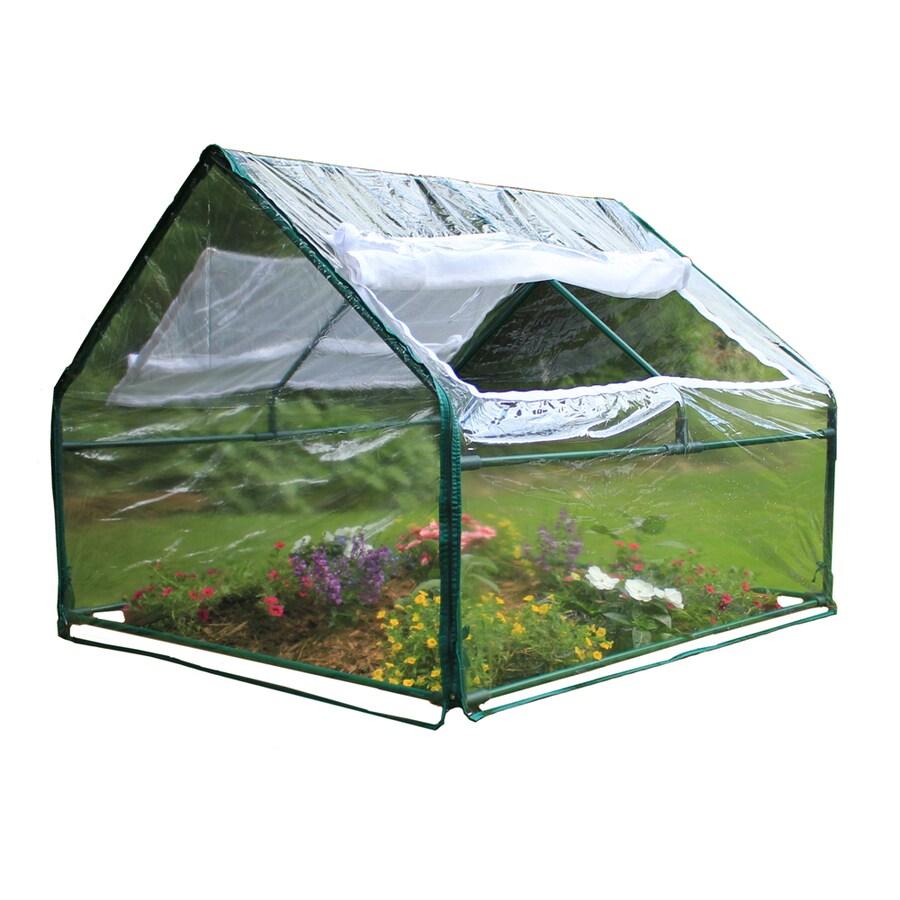 Frame It All 4-ft L x 4-ft W x 3-ft H Metal Pvc Plastic Greenhouse