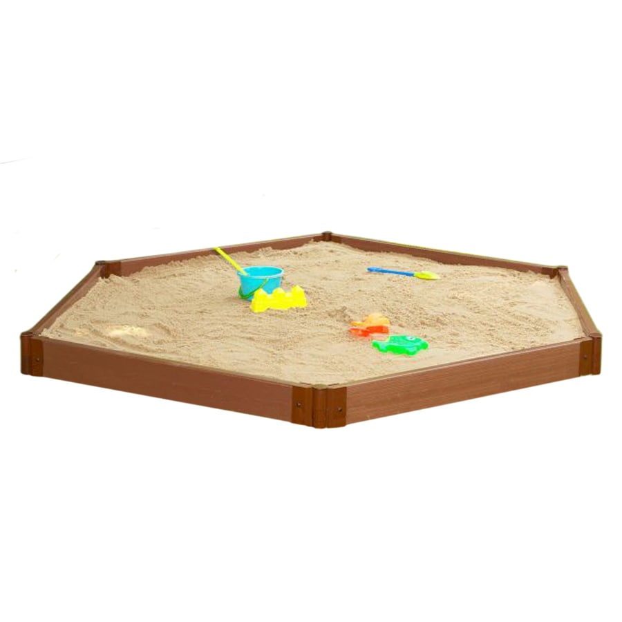 Shop Frame It All 96-in x 96-in Brown Hexagon Composite Sandbox at ...