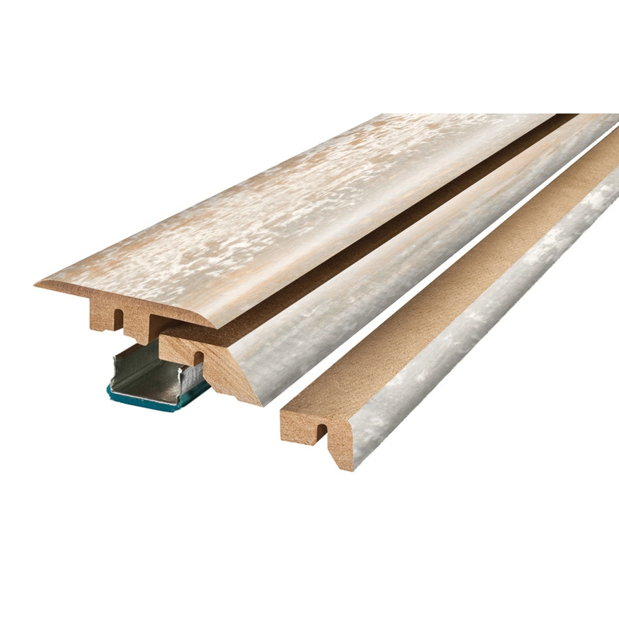 SimpleSolutions 2.37-in x 78.7-in Off White Pine 4-N-1 Floor Moulding