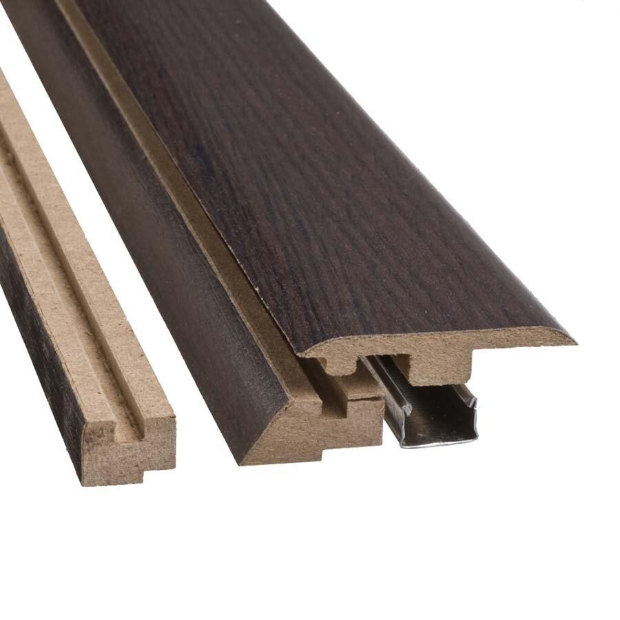 SimpleSolutions 2.37-in x 78.74-in Dark Brown Oak 4-in-1 Floor Moulding