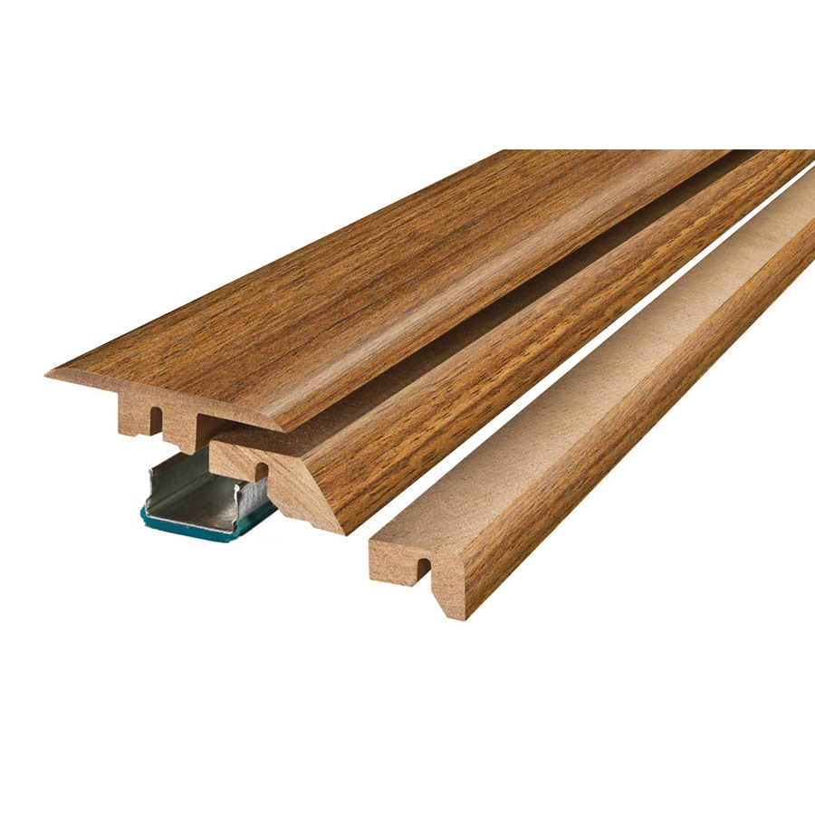 SimpleSolutions 2.37-in x 78.74-in Teak 4-N-1 Floor Moulding