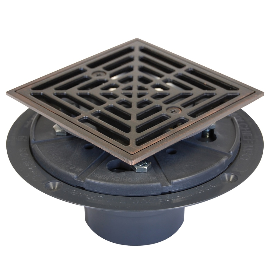 Shop Sioux Chief 6 5 In Slotted Square Plastic Floor Drain