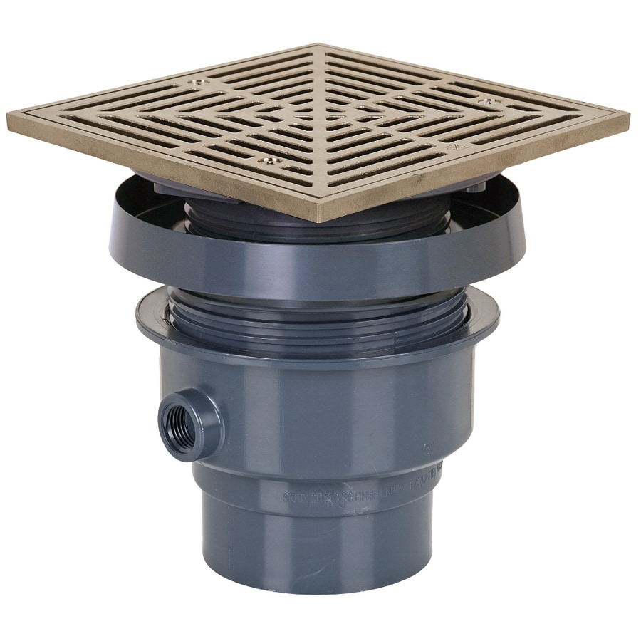 Sioux Chief 7 In Slotted Square Pvc Floor Drain