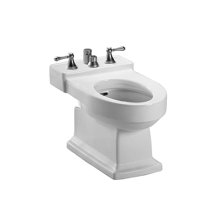 TOTO Lloyd 15-in H Cotton White Elongated Bidet